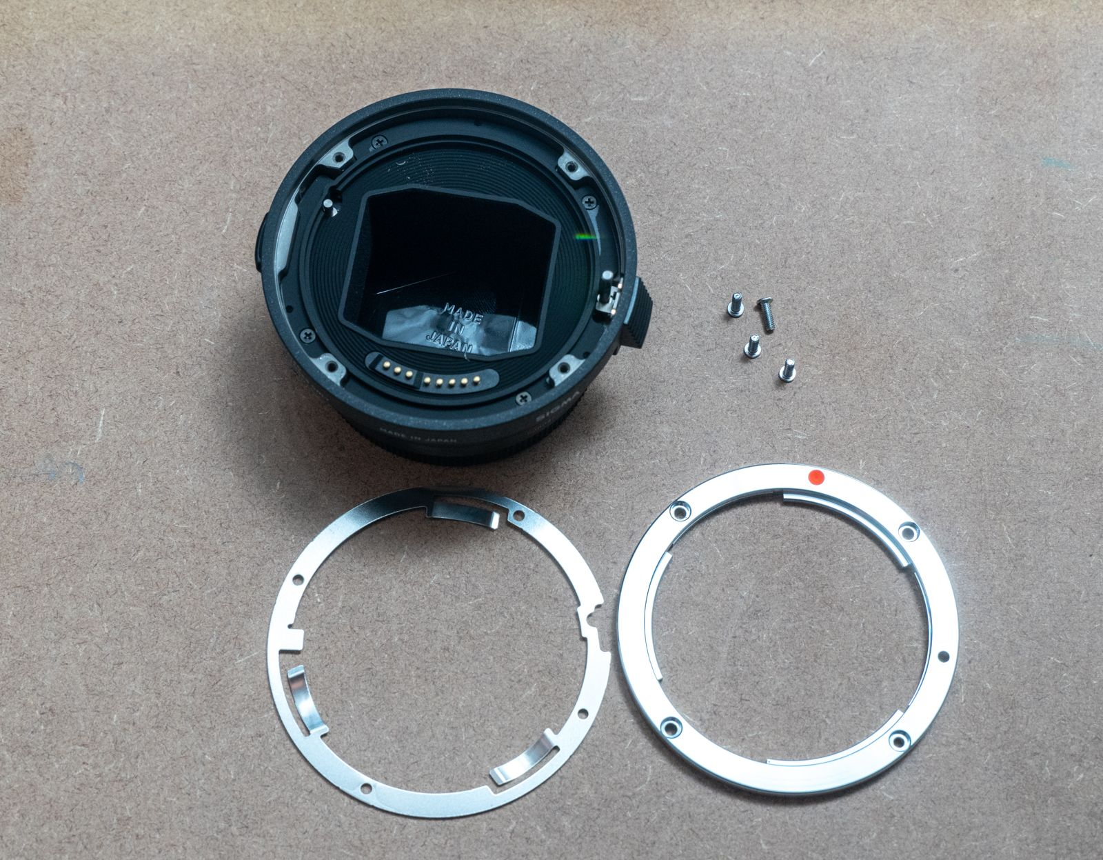 Sigma MC-11 with ring removed