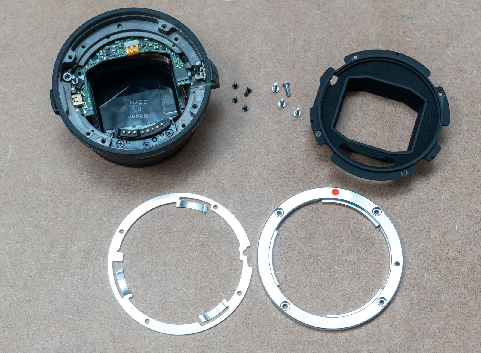 Sigma MC-11 with ring and inner shroud removed