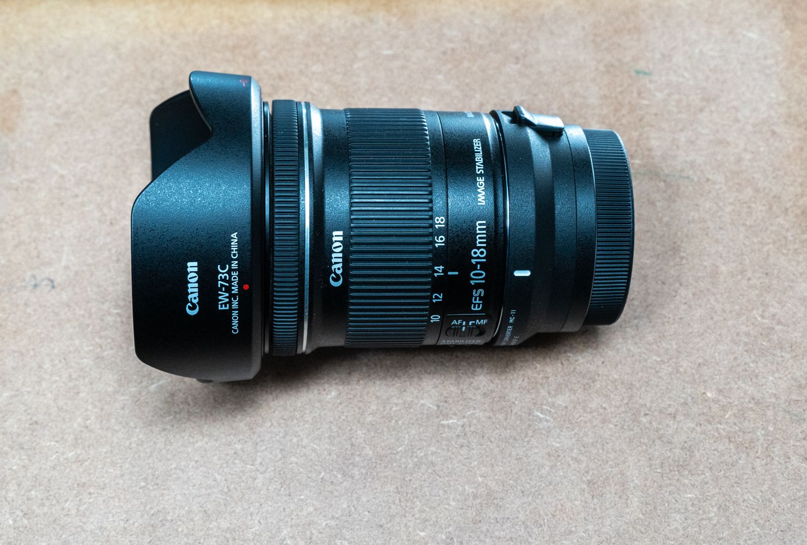 Sigma MC-11 with Canon 10-18mm