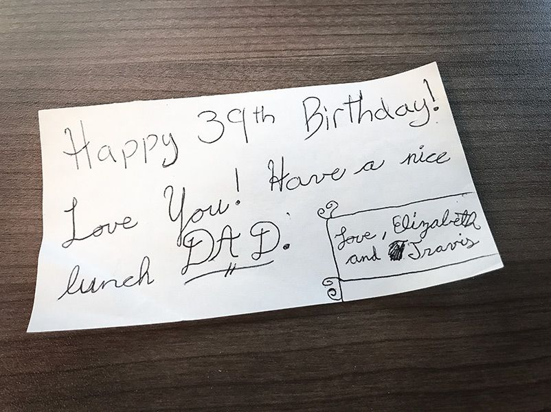A birthday note from my kids