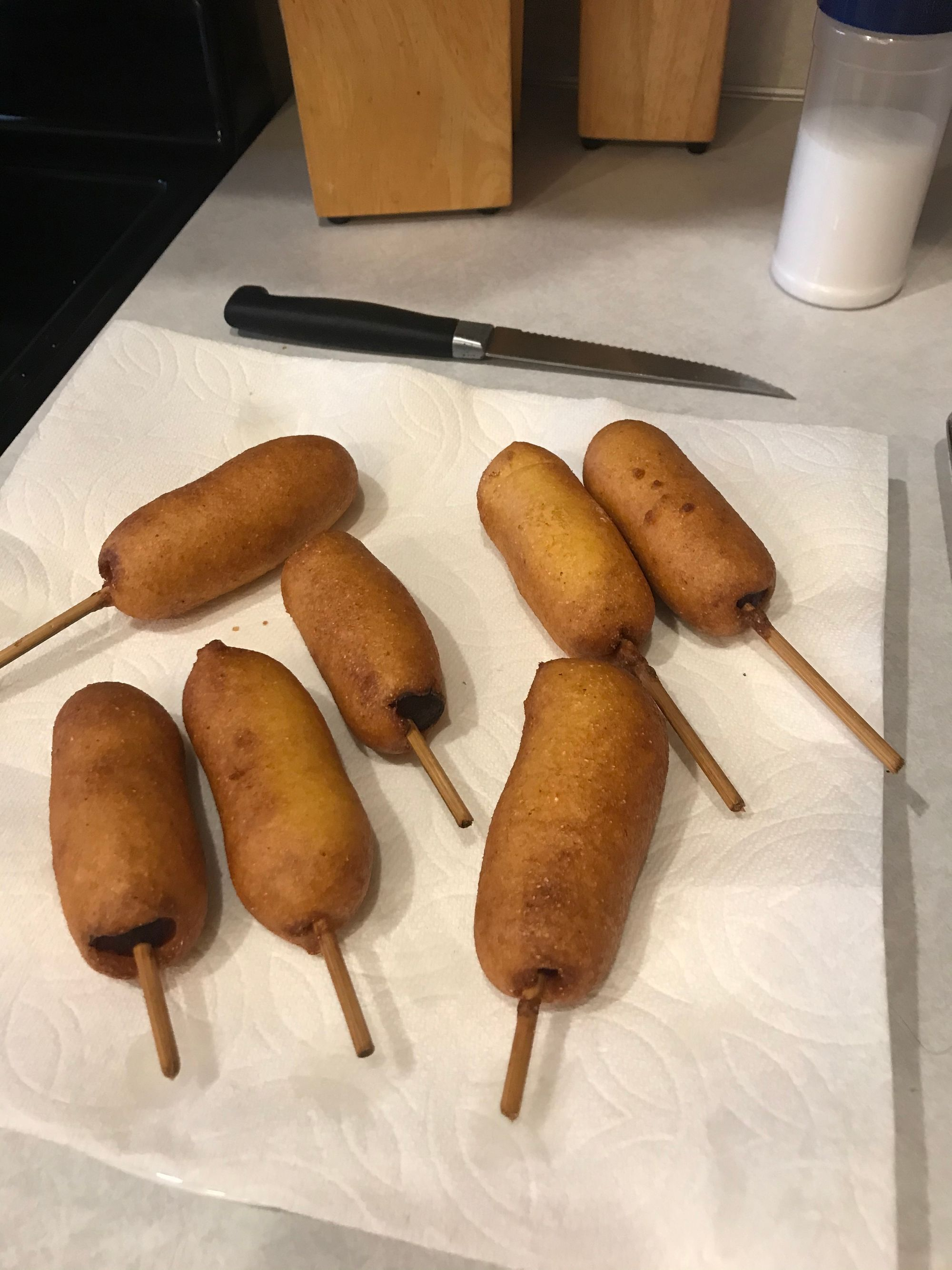 mini home-made corn dogs